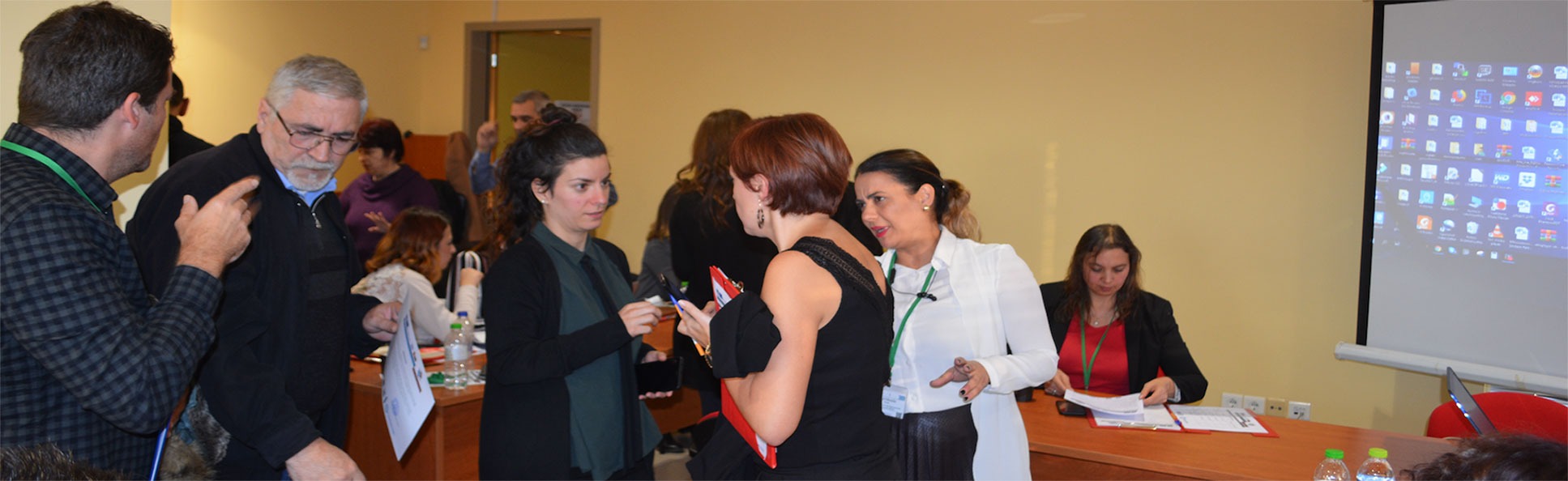 Participants networking at the 1st Transnational Project Meeting of Sign Links